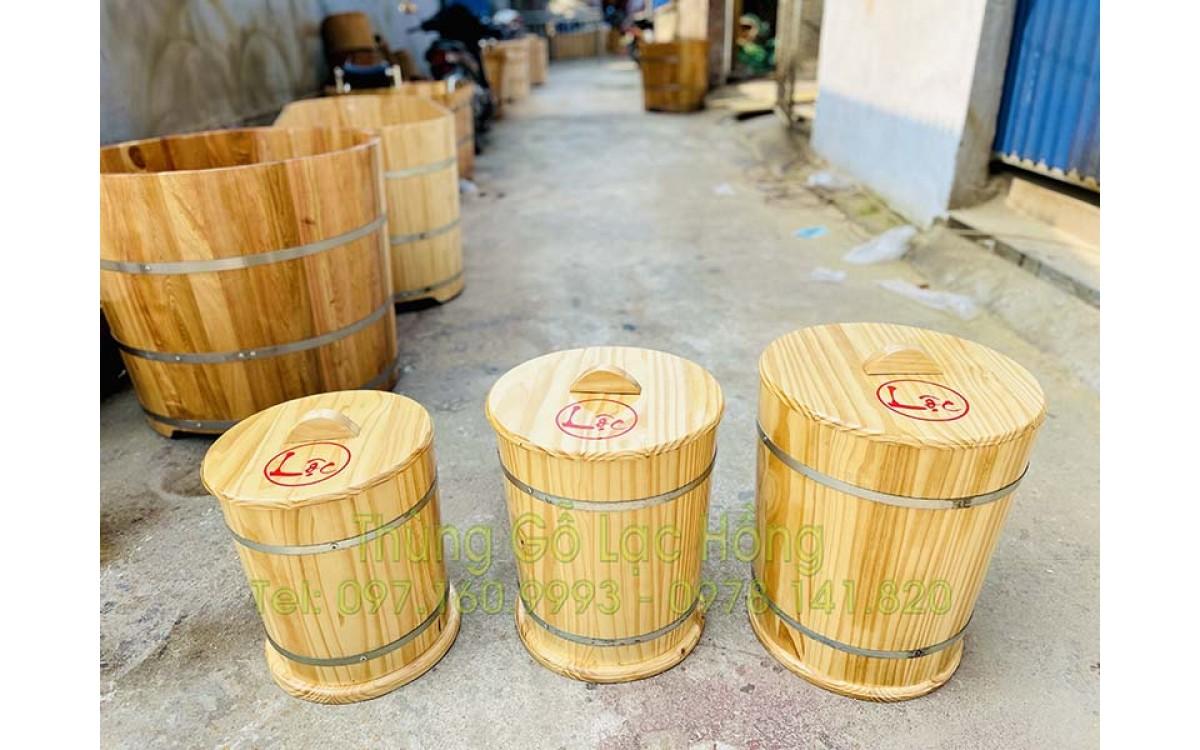 Thùng Đựng Gạo Bằng Gỗ - Lựa chọn thùng gỗ đựng gạo phù hợp các thành viên trong gia đình
